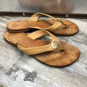 Tory Burch Thora Leather Thong Sandals size 6